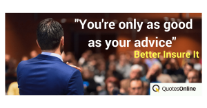 Insure your advice